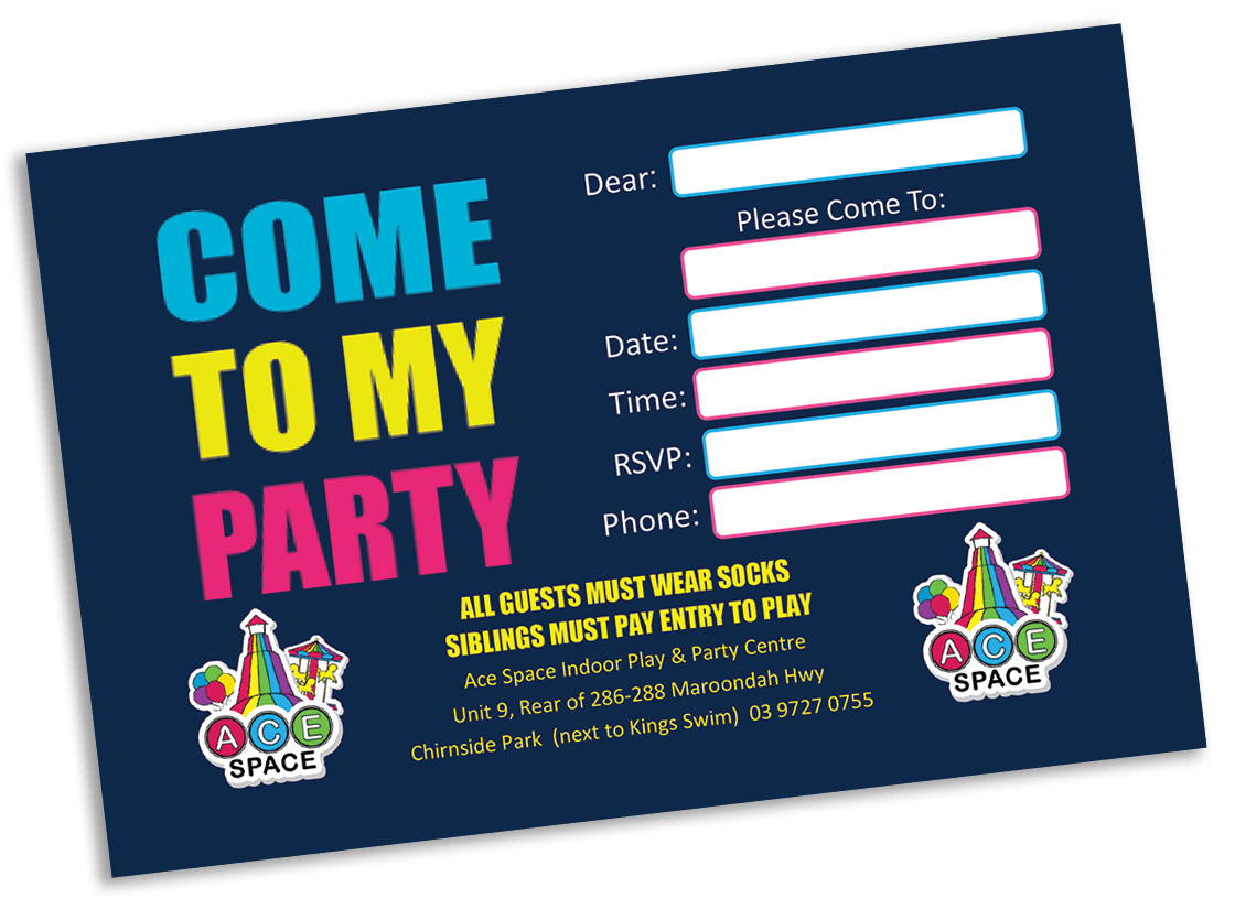 ace space party invite